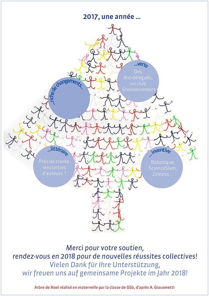 Carte de voeux du Lycée Français Victor-Hugo de Francfort