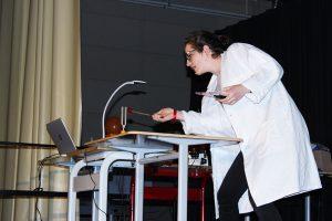 Raphaelle, gagnante du European Science Slam 2017 du Lycée français Victor-Hugo de Francfort